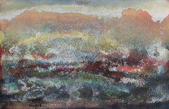 Textured Mixed Media Abstracted Landscape, Circa 1960s