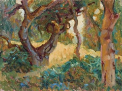 Carmel Valley Forest Landscape in Oil, 20th Century