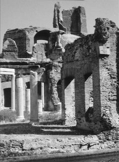 Architectural Ruins, Greece, Black and White Photograph, 1960s