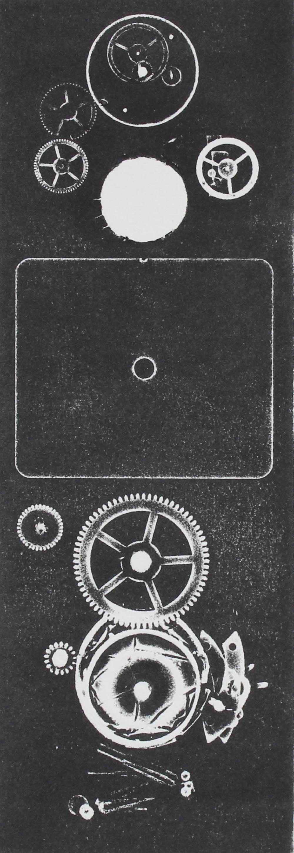 """Clock Tower IV"" Monochromatic Monotype on Paper, 2018"