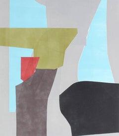 """Benjamin"" Abstract Monotype Print, 2015"