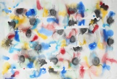 Abstract in Primary Colors, Watercolor Painting, 1993