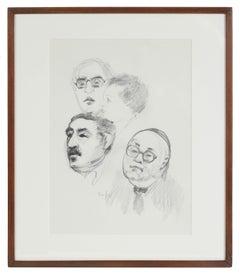 Modernist Portrait Studies in Graphite, 20th Century