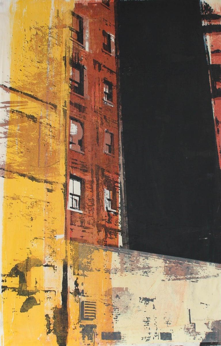 """Airshaft"" Chicago Cityscape, Serigraph Print, 1973"