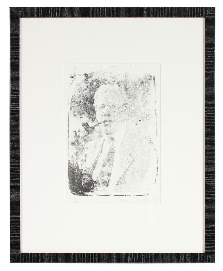 Portrait of Frederick Poole, Monochromatic Lithograph, 1969