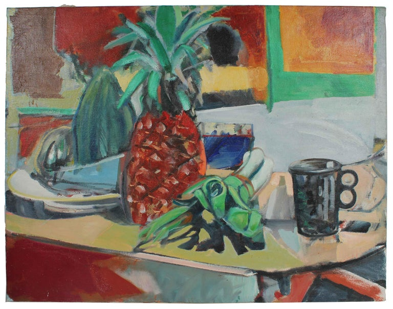 """""""Still Life with Pineapples"""" Oil on Canvas, 1975"""