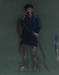 Portrait of a Young Man, Pastel Drawing, 1939