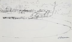 Bay Area Coastal Scene in Ink, 1976