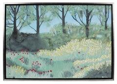 """""""Peupliers au bord de l'Epte"""" Giverny, France Landscape, Oil on Canvas, 2017"""
