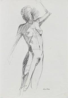 Bay Area Figurative Nude, Graphite on Paper, Late 20th Century