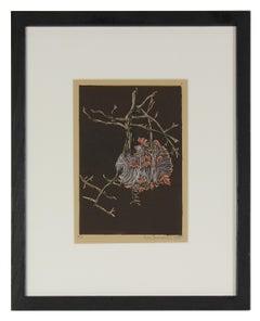 """""""Nest"""" Linoleum Block Print, 2010"""