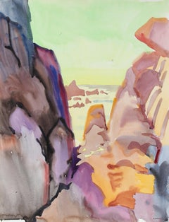 20th Century Watercolor Seascape Painting