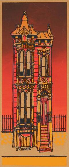 San Francisco Victorian Home Silkscreen Print