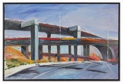 20th Century Colorful Bay Area Scene Oil on Canvas