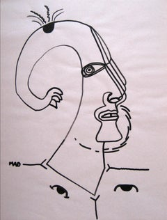 20th Century Continuous Line Drawing in Graphite