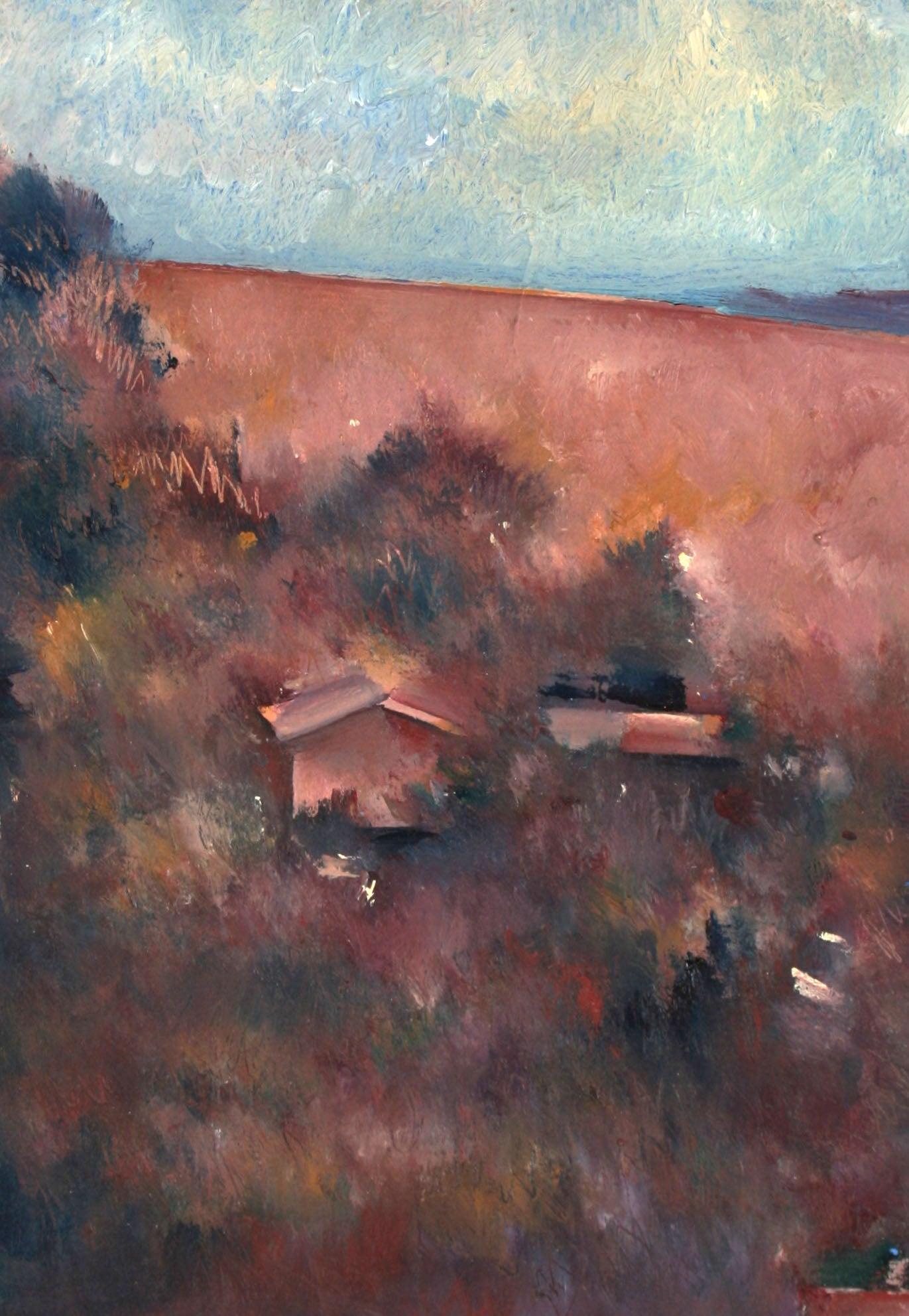 20th Century Petite California Landscape in Oil