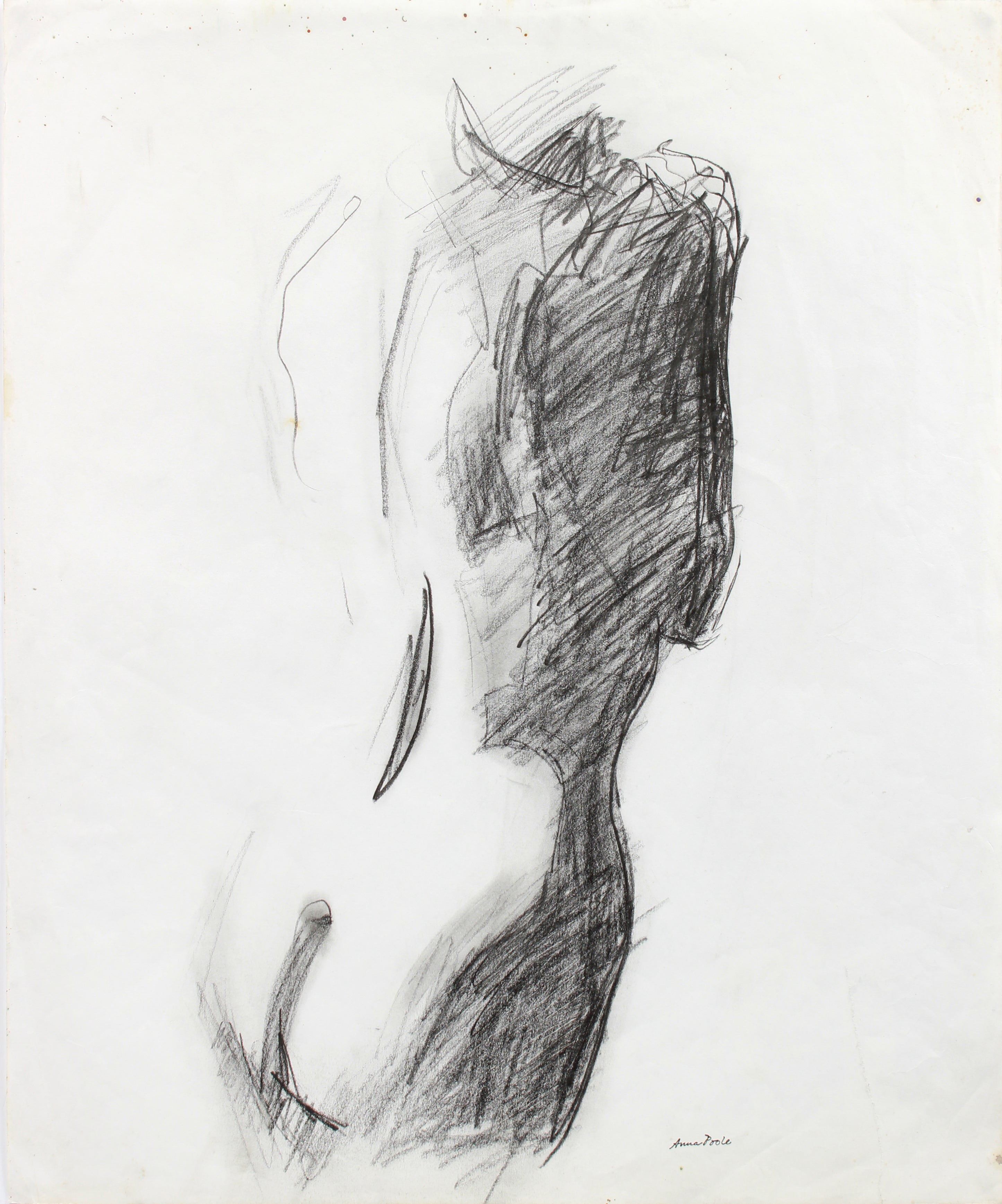 Anna poole female nude graphite on paper figure drawing late 20th century for sale at 1stdibs