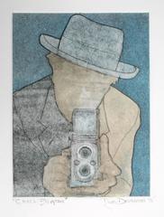Monoprint Portrait of Cecil Beaton by Rob Delamater