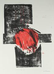 Abstract Expressionist Stone Lithograph