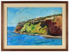 """Bay Area Landscape Oil Painting, """"Cliff"""" by Jack Freeman"""