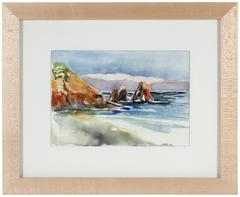 Bay Area Seascape Watercolor by A. McGaffey