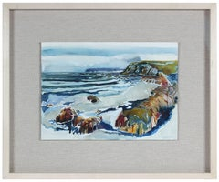 Northern California Seascape Watercolor by A. McGaffey