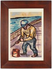 WPA-Style Expressionist Sailor by Byron Randall, 1943