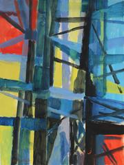 Mid Century Abstracted New York Bridge by Seymour Tubis