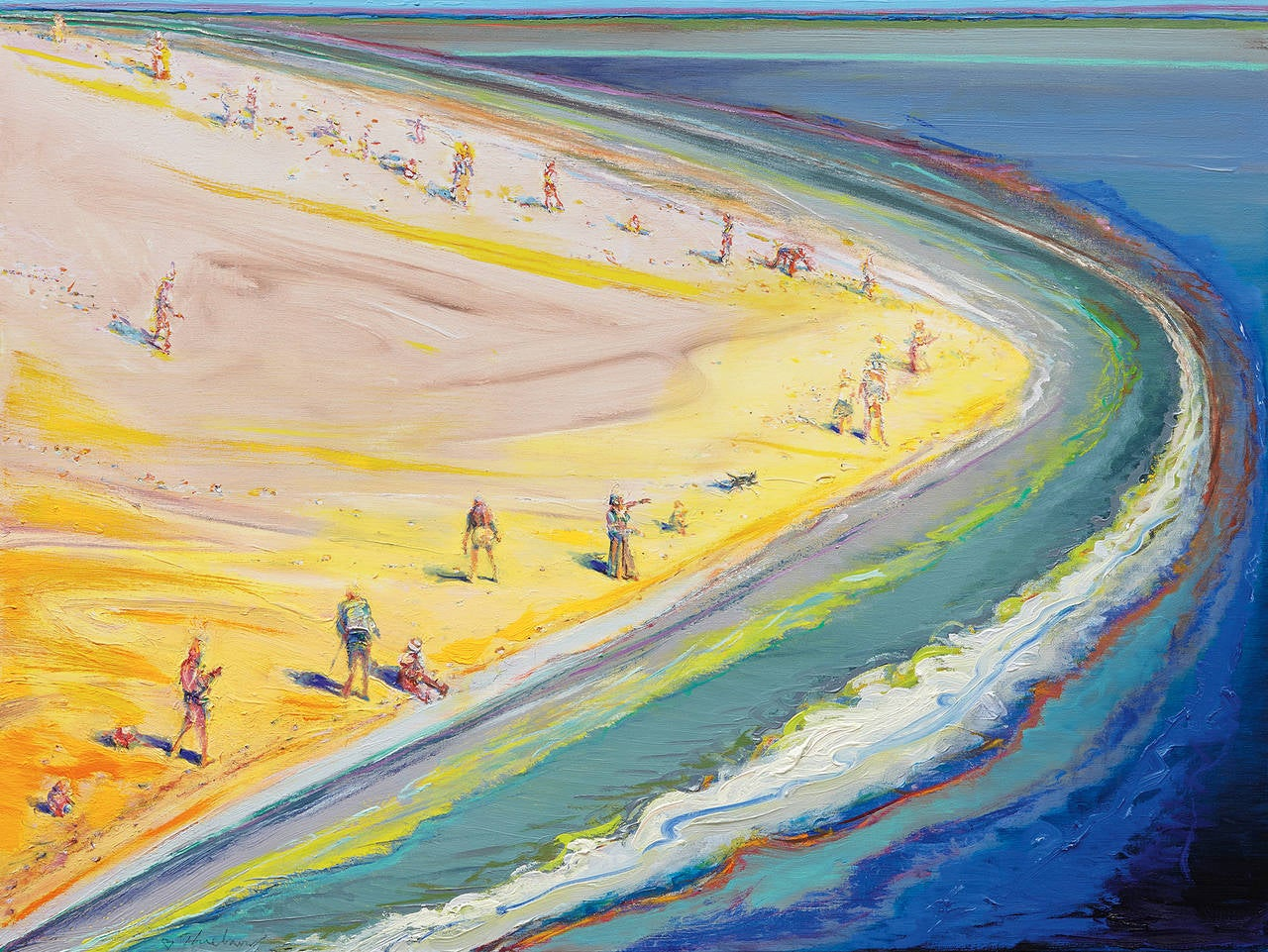 Wayne Thiebaud Landscape Painting - Triangle Beach
