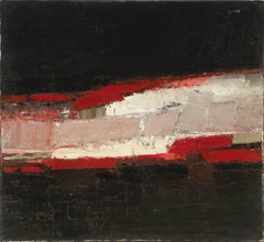Red, White & Black - 20th Century, Abstract, Oil on canvas by Peter Kinley
