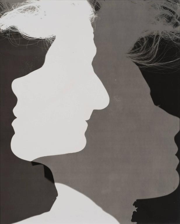Erwin Blumenfeld Black and White Photograph - Shadowed Silhouettes, New York