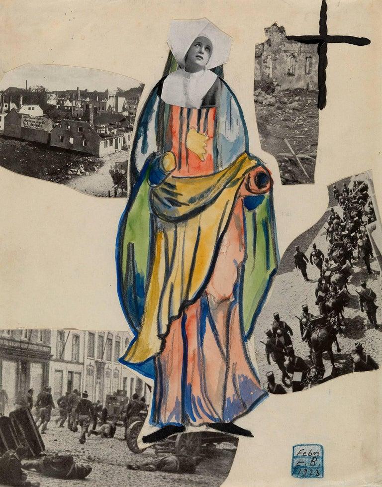 Madonna of War (Nun), Amsterdam - Mixed Media Art by Erwin Blumenfeld