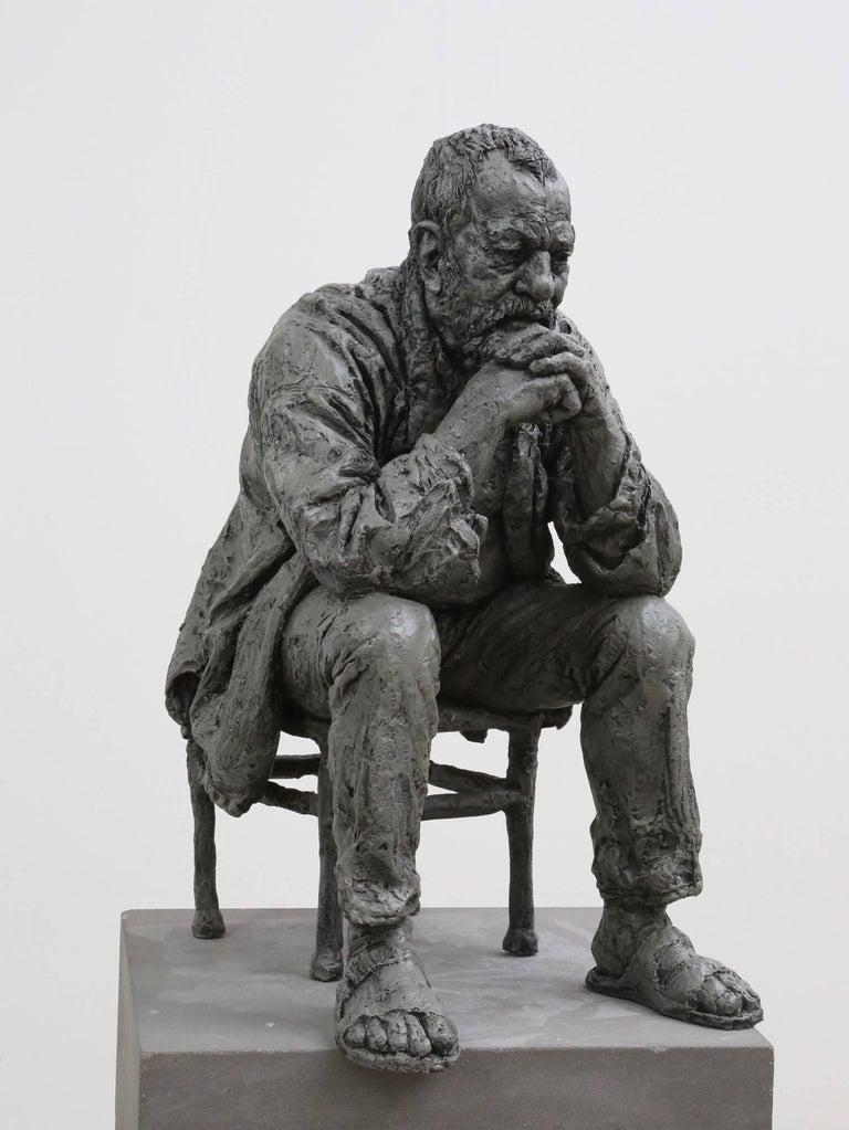 Sean Henry Figurative Sculpture - Seated Man