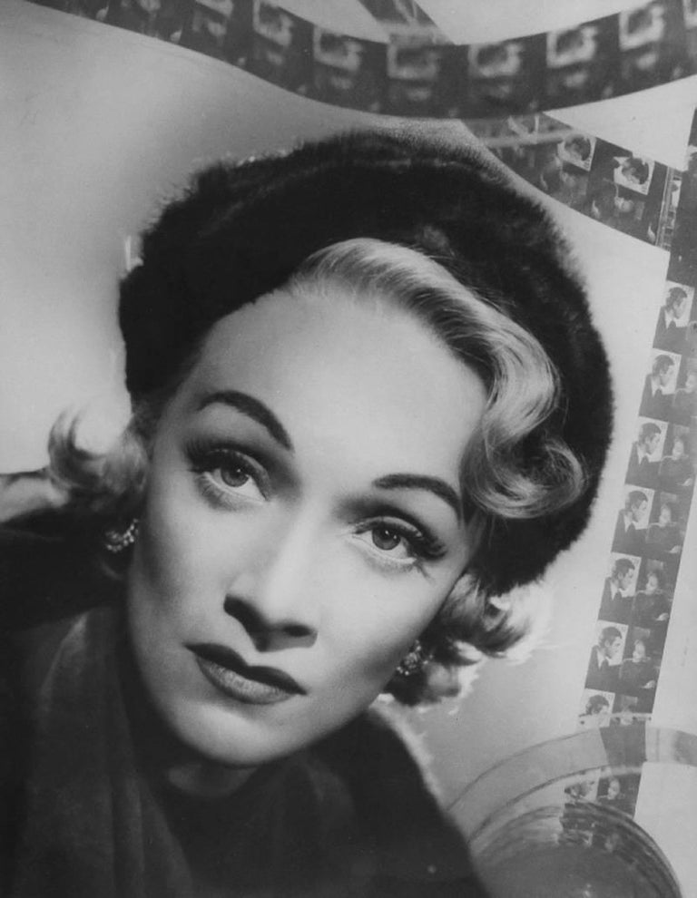 Angus McBean Black and White Photograph - Marlene Dietrich, No Highway in the Sky, Pinewood Studios