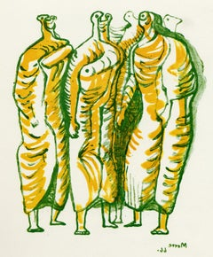 Standing Figures - 20th Century, Print by Henry Moore