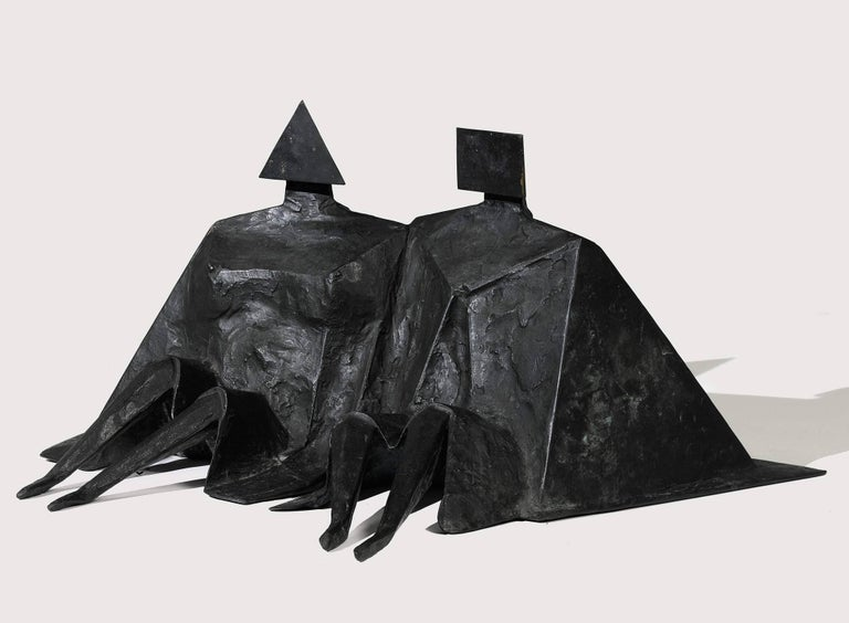 Sitting Couple II - Sculpture by Lynn Chadwick