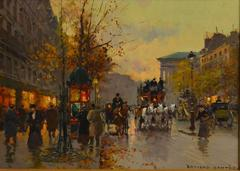 """Place de la Madeleine""  oil/canvas on board, 13 x 18 inches  Paris"