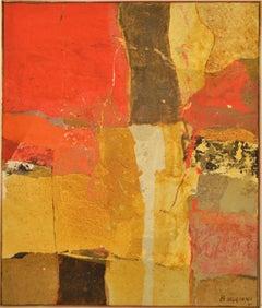 """""""Muro al Sole, 1961"""" Oil on Canvas 29 x 24"""