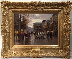 "Cortes 13 x 18"" oil on canvas ""La Madeleine"" Paris Street"