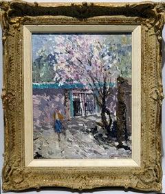 "Ellis, ""Apple Blossoms"" Oil/Board 10x8 Inches Colorado Aspen Flowering Tree"