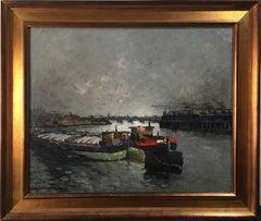 """""""Soir a Charenton"""" Oil on Canvas 20 x 24"""