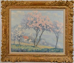 "Impressionist ""Springtime with Blossoming Trees"" Oil on Canvas 20 x 24"
