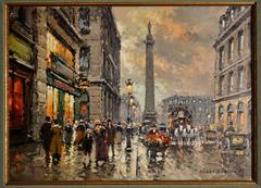 Place Vendome, Paris, 13 x 18 inches canvas size