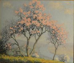 """Cherry Blossoms""   Original Impressionist painting circa 1925"