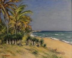 Tropical Coastal Scene by early 20th century Russian artist