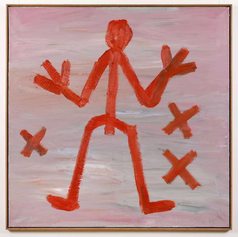 A.R. Penck (Ralf Winkler) Abstract Painting - Standart Remember