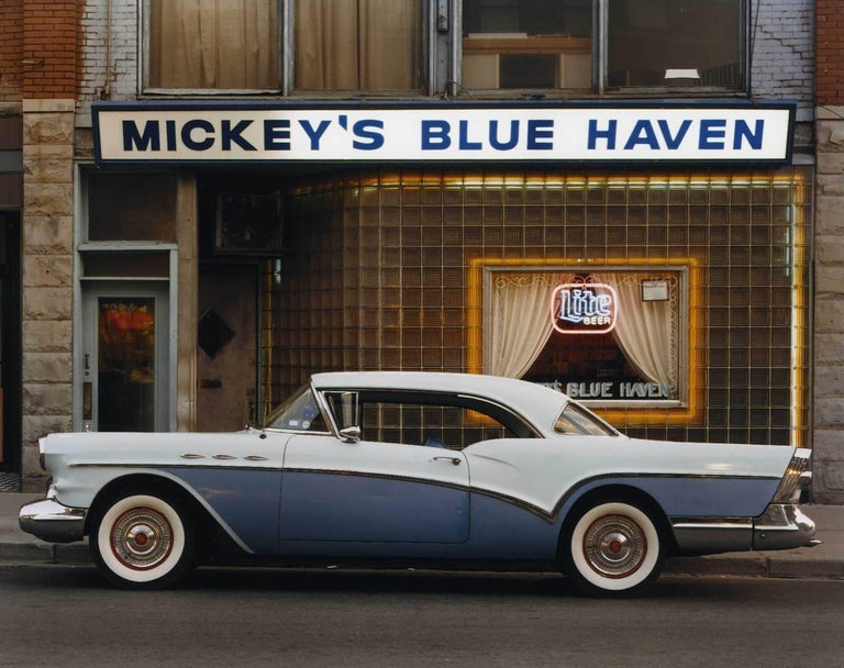 Bruce Wrighton Color Photograph - 1957 Buick Special Riviera Coupe (Mickey's Blue Haven), Johnson City, NY