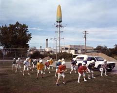 Post Bulletins (football team) Practicing at Graham Park, Rochester, NY