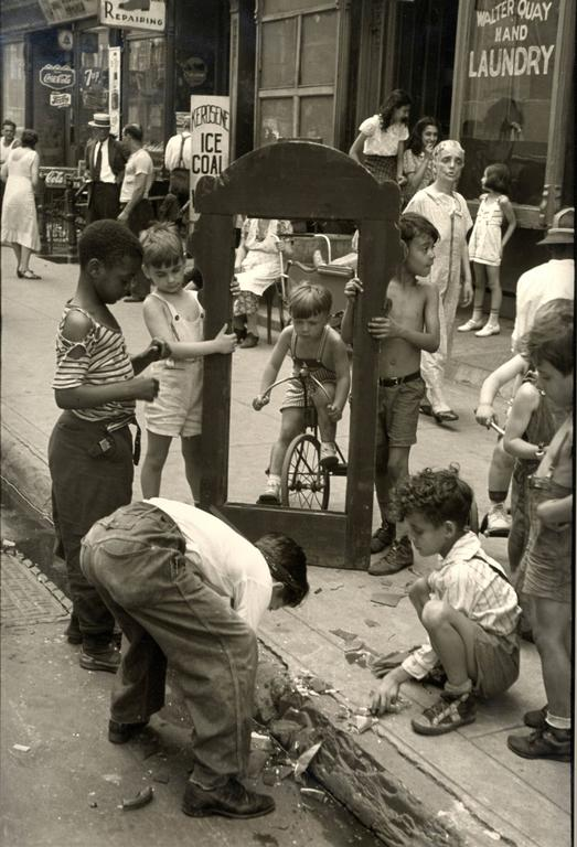 Helen Levitt Black and White Photograph - New York City (broken mirror)