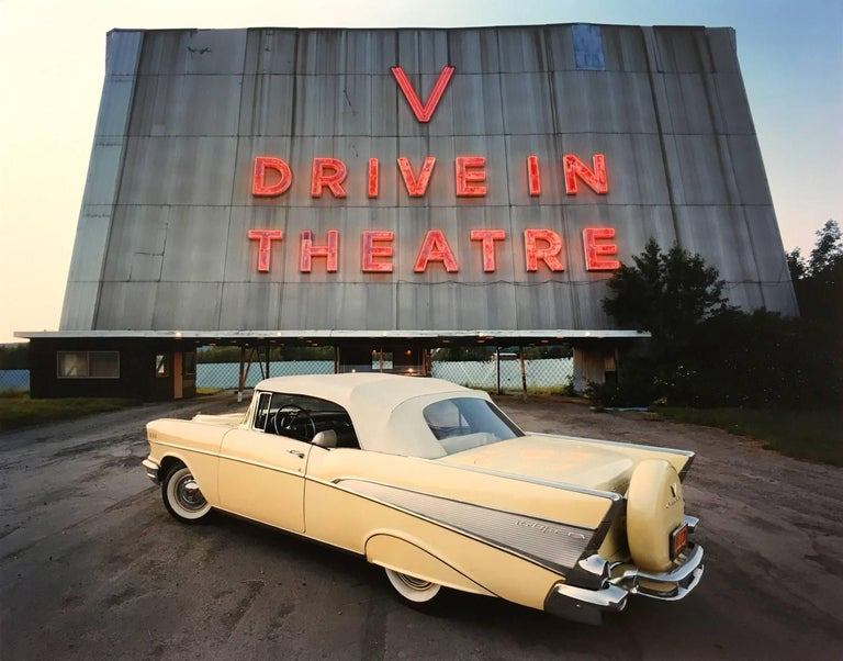 Bruce Wrighton Color Photograph - 1957 Chevrolet Bel Air Convertible (V Drive-In Theatre,Vestal, NY)